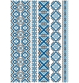 Ethnic embroidery seamless floral pattern vector image vector image