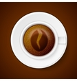 Cup of coffee with Coffee symbol vector image