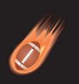 football-fire vector image