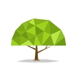 Polygonal tree abstract low poly vector image