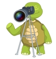 Funny Turtle Photographer vector image vector image