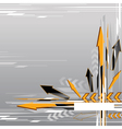 abstract arrow background vector image