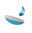 Contact lens business logo vector image
