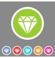 Diamond icon flat web sign symbol logo label vector image
