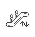 escalator linear icon sign symbol on vector image