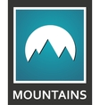 fine mountains and sun abstract icon vector image