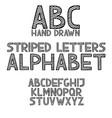 hand draw doodle abc alphabet grunge type font vector image