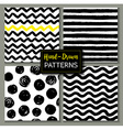 Hand drawn set of geometric patterns vector image