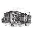 Massachusetts Lenox Library engraving vector image