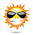 Sun with funny face vector image