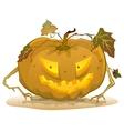 Terrible pumpkin lantern for Halloween Holiday vector image