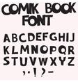 comic book font vector image