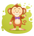 Cute cartoon monkey toy card vector image vector image