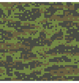 Woodland Digital Camo Pattern vector image