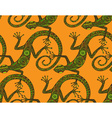 hand drawn seamless pattern with lizards or vector image