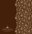 coffee vertical brown vector image
