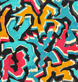 colored graffiti seamless pattern with grunge vector image