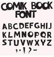 comic book font vector image