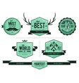 Grunge retro badges vector image
