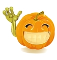 Happy Halloween Pumpkin Jack O Lantern vector image