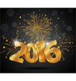 Happy new year background with fireworks vector image