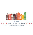 Independence Day Netherlands vector image