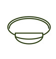 military cap line style army officer hat icon vector image
