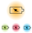 Set of battery charge vector image