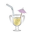 cocktail drink liquor isolated design vector image