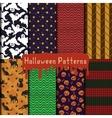 halloween patterns set vector image