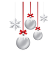 Xmas balls and snowflakes vector