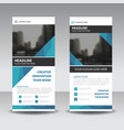 blue elegance business roll up banner flat vector image