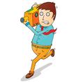 Cartoon camera man vector image vector image