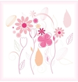 Abstract floral beautiful background vector image