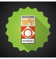 Smoking Cigarette Pack Bad Habit Flat icon vector image vector image
