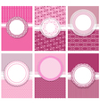 set cards with round frames 380 vector image