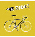 bicycle yellow poster vector image vector image