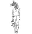 fashion animal anthropomorphic design furry art vector image
