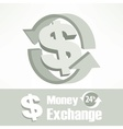 Dollar symbol in grey vector image vector image