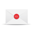 seal white closed envelope vector image