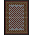 The pattern for carpet in brown and blue shades vector image
