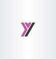 Purple black letter y sign logo icon vector image