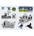 all winter sports vector image vector image