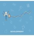 Business concept development flat vector image