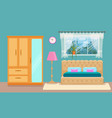 bedroom interior colorful vector image