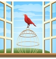Bird on a Cage vector image