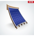 Icon Solar Panel Cover on Roof vector image