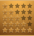 modern star rating set background vector image