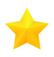 realistic golden star icon vector image