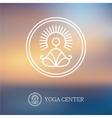 Round linear yoga logo vector image